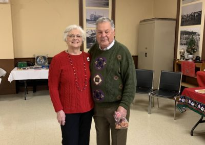 OHS President Wylie Donaldson and wife Donna (past President) - OHS 2018 Christmas Open House